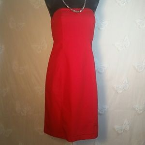 GAP strapless red dress GLEAM